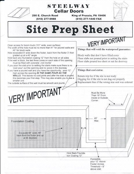 newconstructionworksheet2  sc 1 st  Steelway Cellar Doors & New Construction Cellar Door Installation | Steelway Cellar Doors